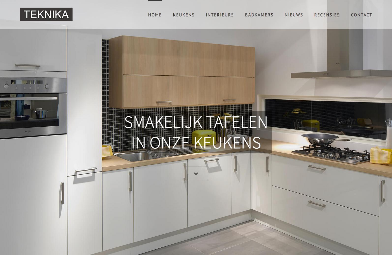 Nieuwe website TEKNIKA keukes