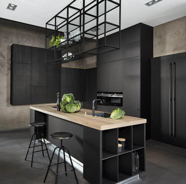 Zwarte keuken van Teknika